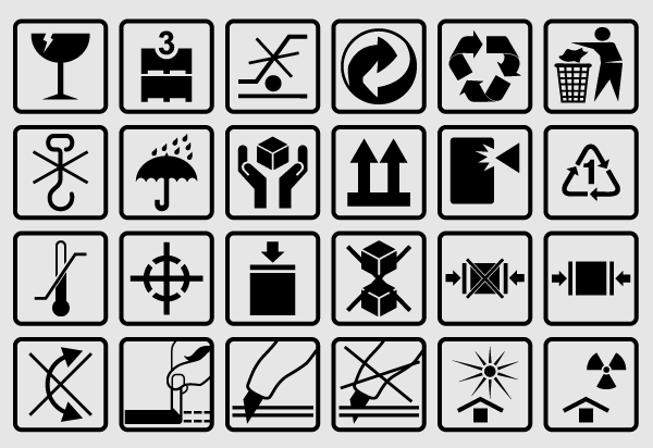 Free Vector Packaging Box Symbols 123freevectors