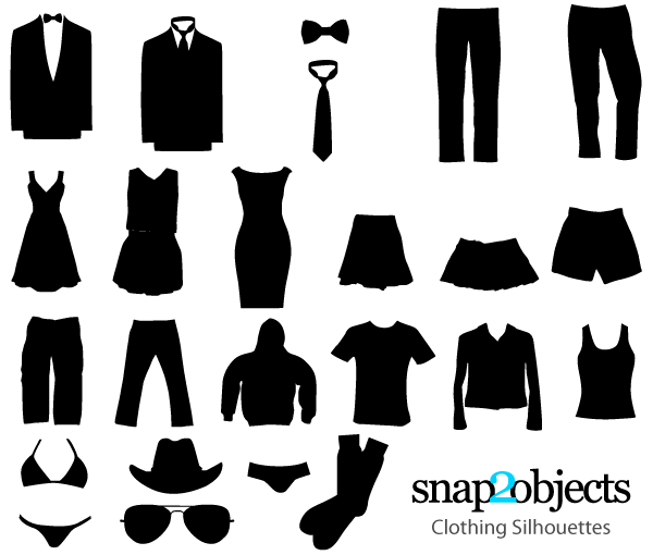 free clothing vector silhouettes 123freevectors