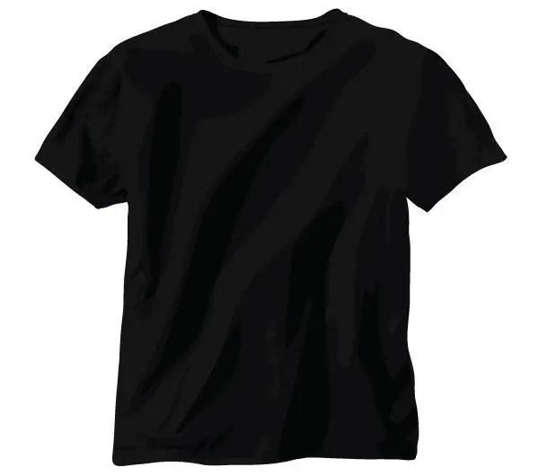 free tshirt vector black shirt template 123freevectors