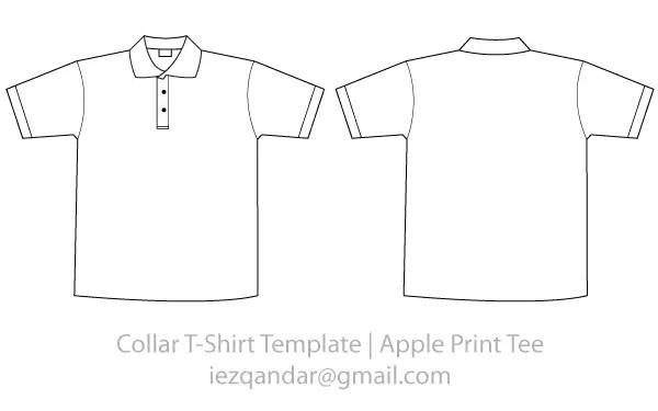 Vector Collar Tee Template | 123Freevectors