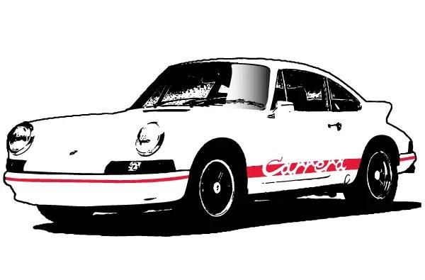 Porsche Carrera Vector