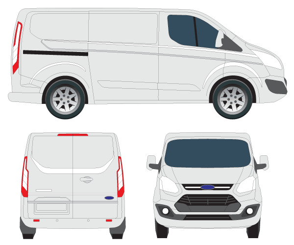 Transit Custom Tourneo Vector Image