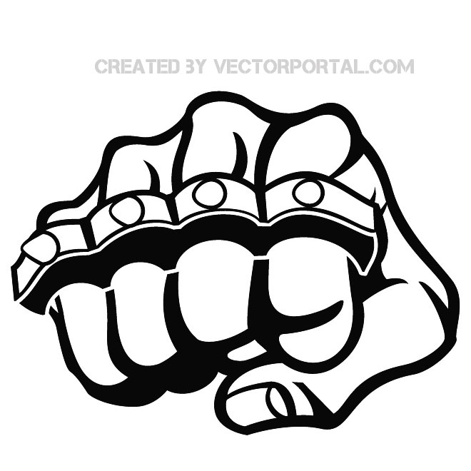 Fist and Knuckle Stock Free Vector