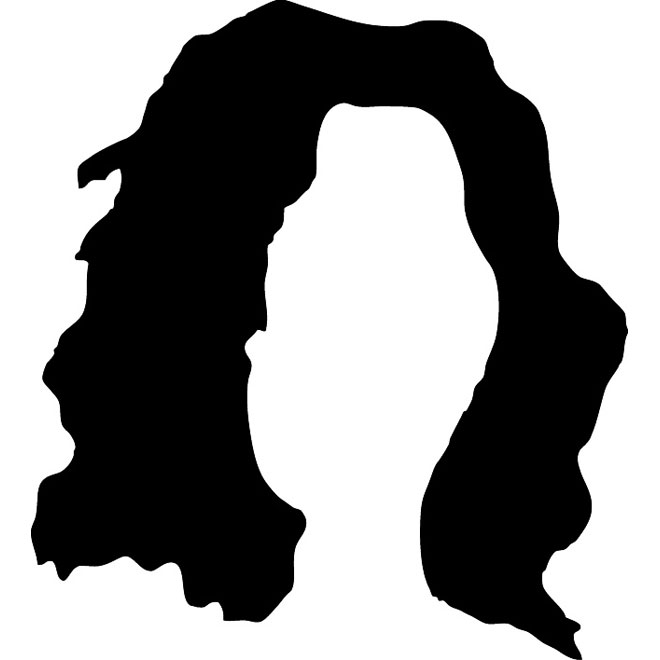 hair silhouette free vector 123freevectors rh 123freevectors com vector haircut vector hair