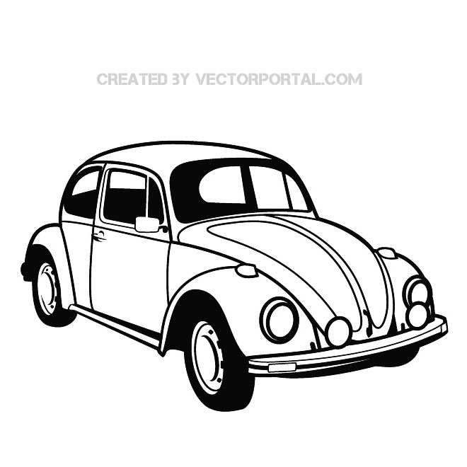 Vw Beetle Graphics Free Vector 123freevectors
