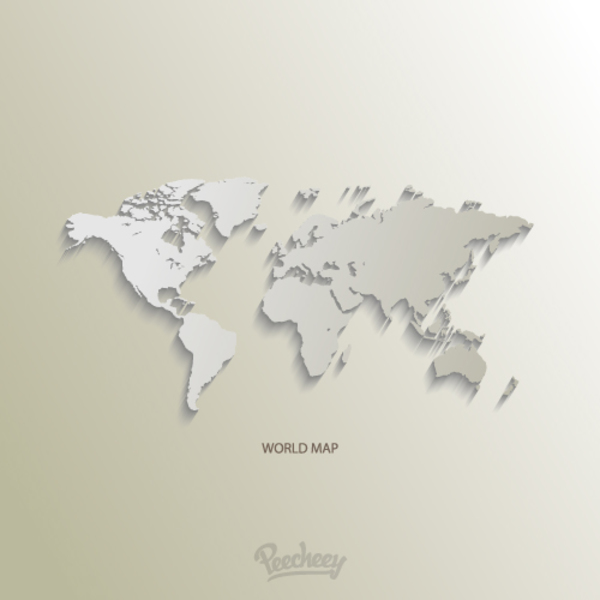 World map free vector 123freevectors world map free vector gumiabroncs Image collections