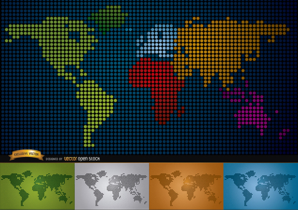 Digital map of world with continents free vector 123freevectors digital map of world with continents free vector gumiabroncs Image collections