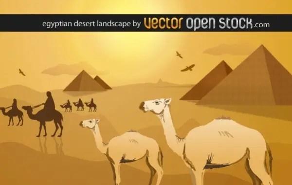 Egyptian Desert Landscape Free Vector