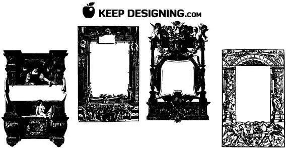 Antique frames | 123Freevectors