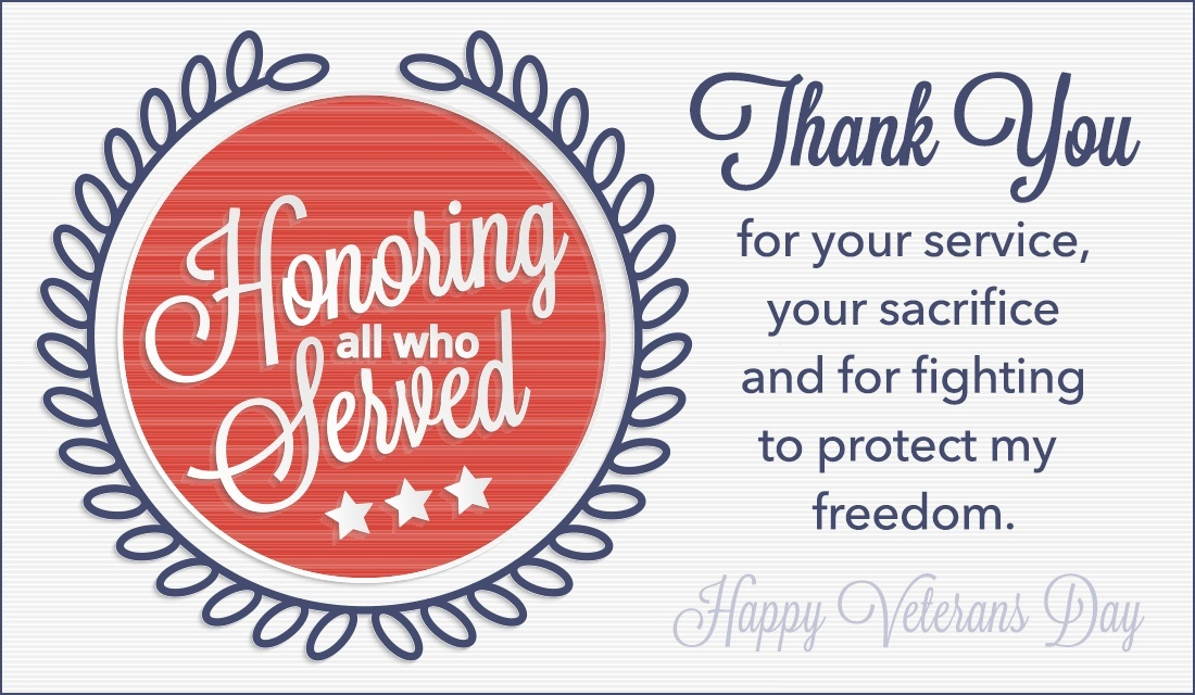 Veterans Day Thank You Cards Greeting Cards & Ecards 2018