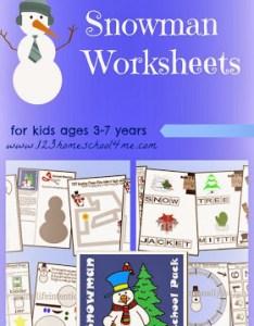 Free printable snowman worksheets for kids lots of fun winter toddlers also homeschool me rh homeschool me
