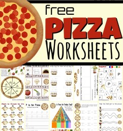 FREE Pizza Worksheets for Kids [ 1721 x 1024 Pixel ]
