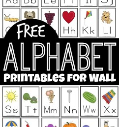 FREE Alphabet Printables for Wall [ 1519 x 1024 Pixel ]