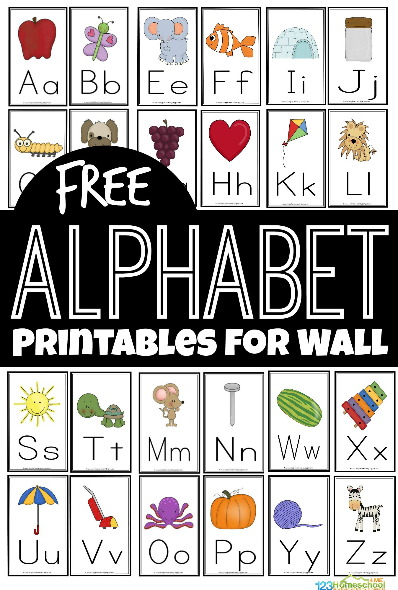 hight resolution of FREE Alphabet Printables for Wall