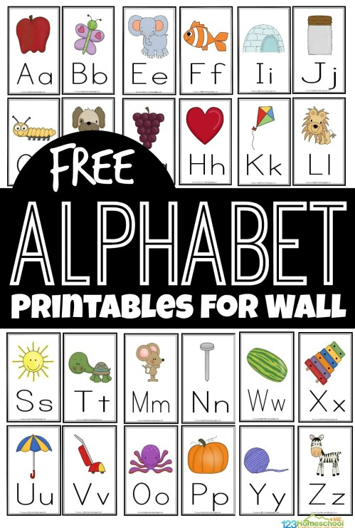 small resolution of FREE Alphabet Printables for Wall