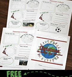 FREE Christmas Around the World Worksheets for Kids + Activities [ 1226 x 924 Pixel ]