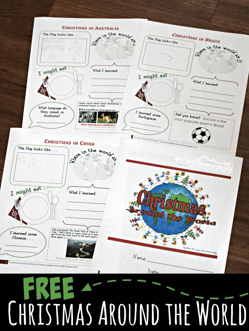 medium resolution of FREE Christmas Around the World Worksheets for Kids + Activities