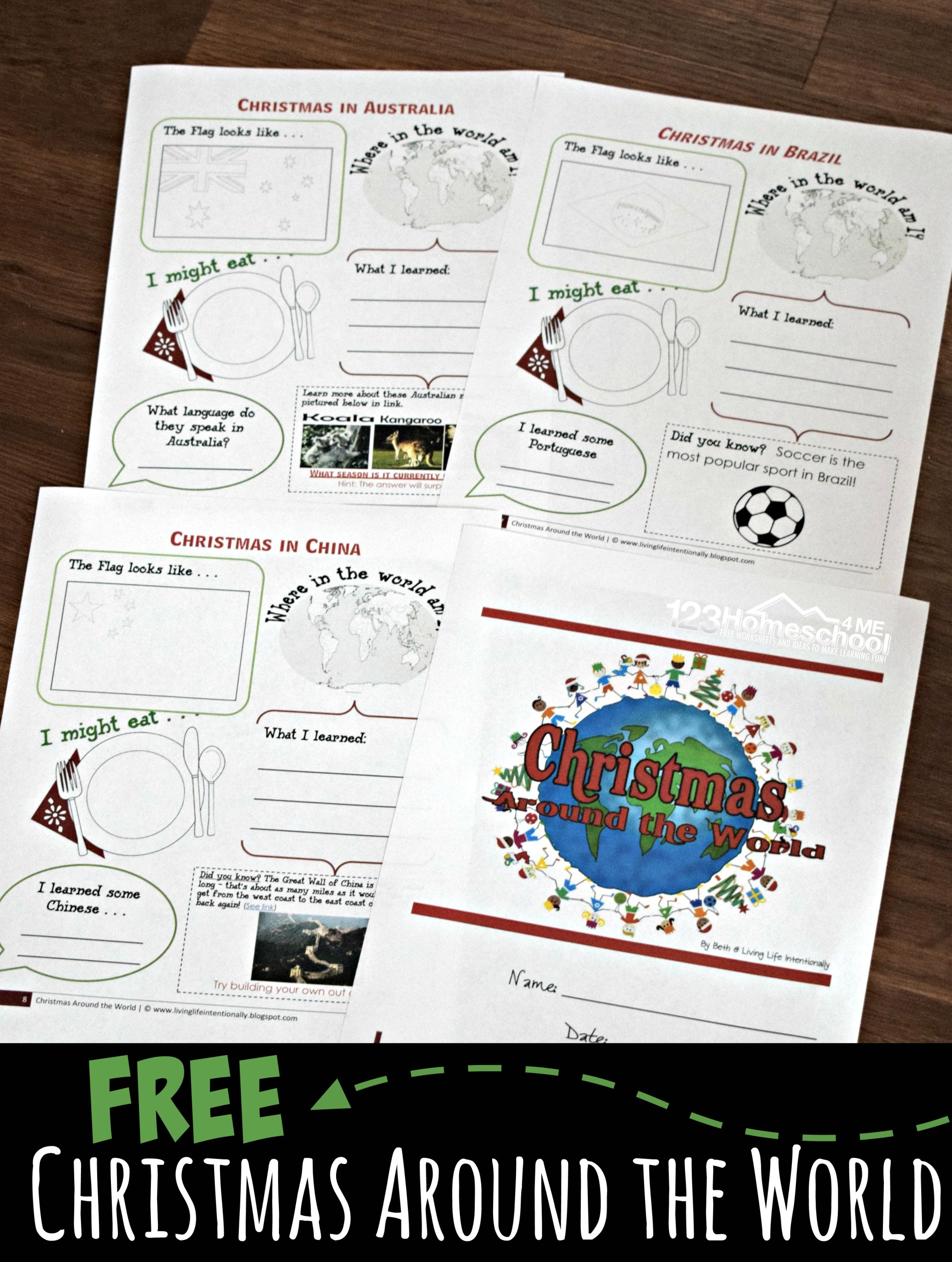 hight resolution of FREE Christmas Around the World Worksheets for Kids + Activities