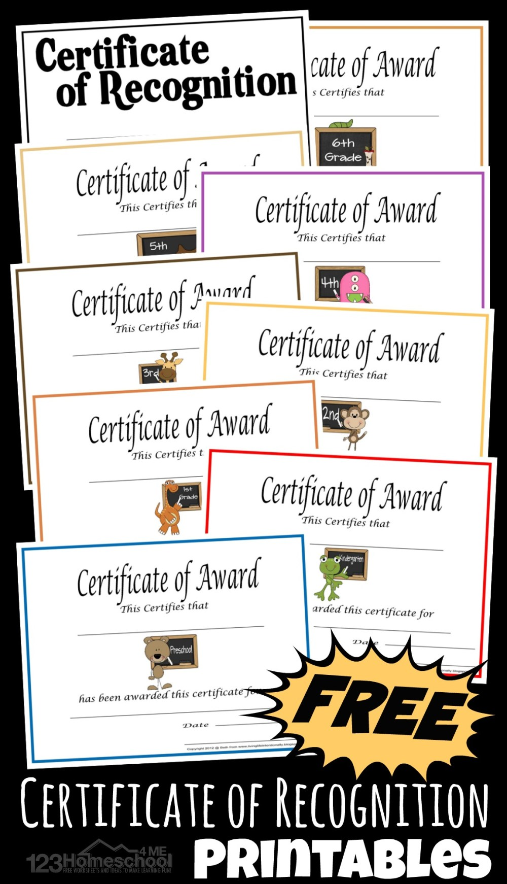 medium resolution of Free Printable Homeschool Certificate