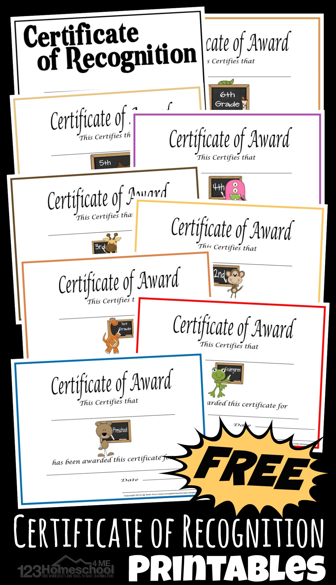 hight resolution of Free Printable Homeschool Certificate