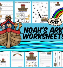 FREE Noah's Ark Worksheet Pack for Kids [ 938 x 1000 Pixel ]