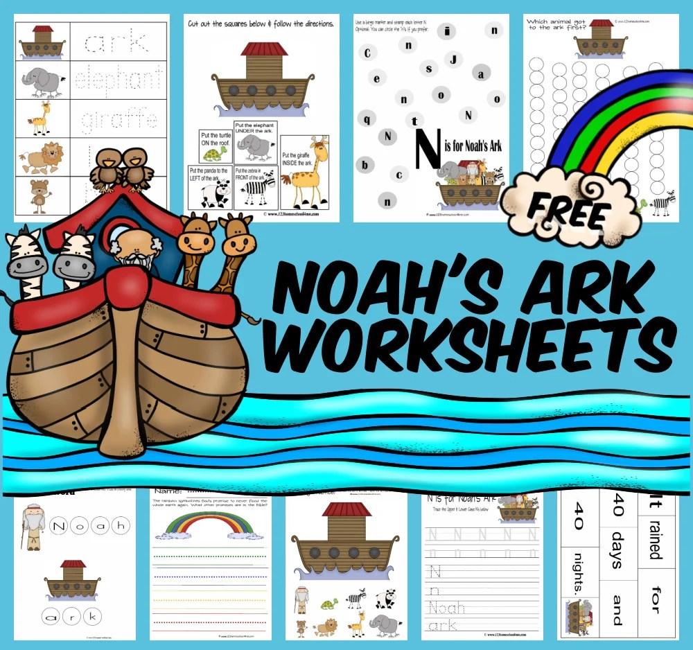 medium resolution of FREE Noah's Ark Worksheet Pack for Kids
