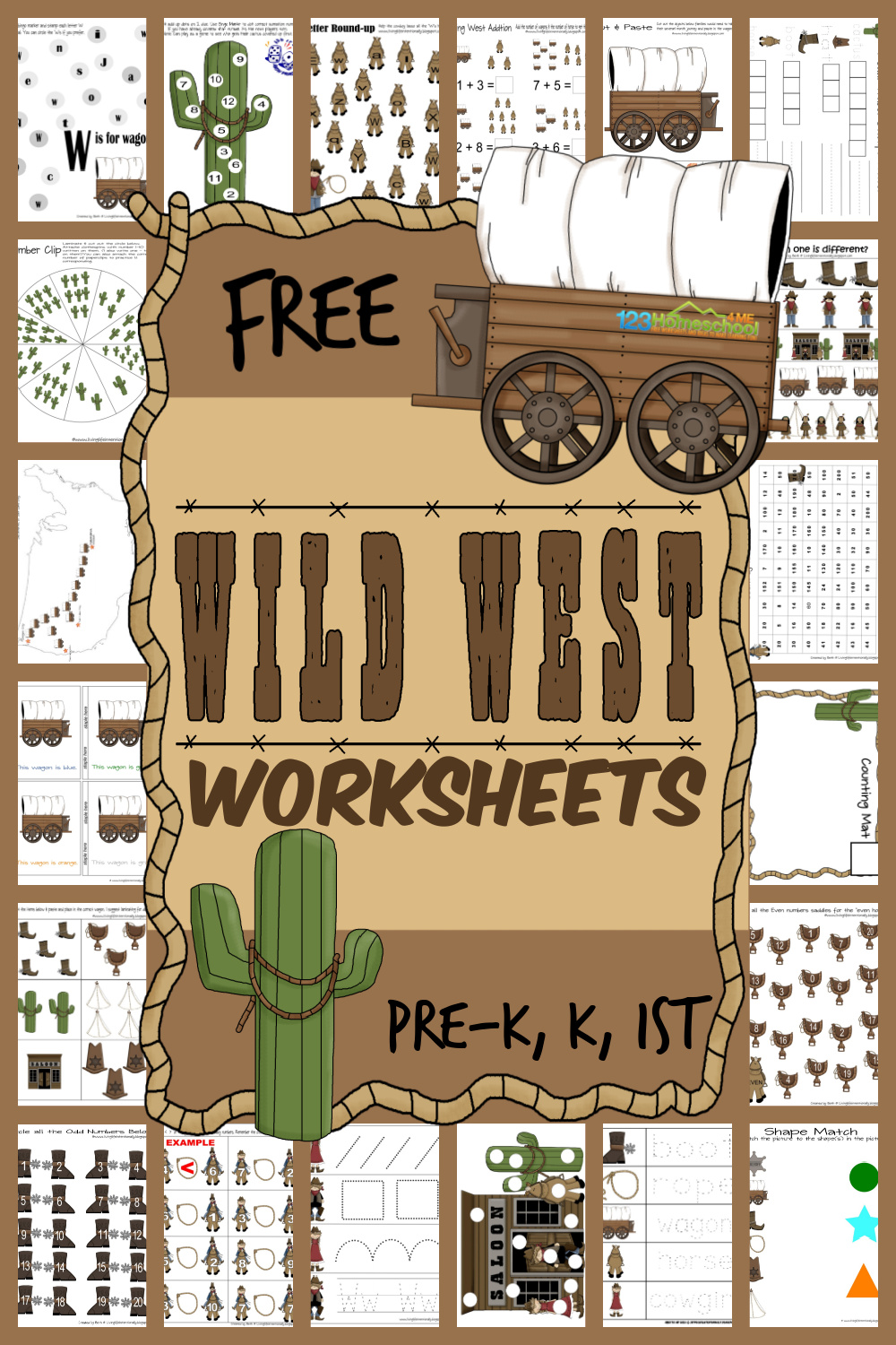 medium resolution of FREE Wild West Worksheets for Kids