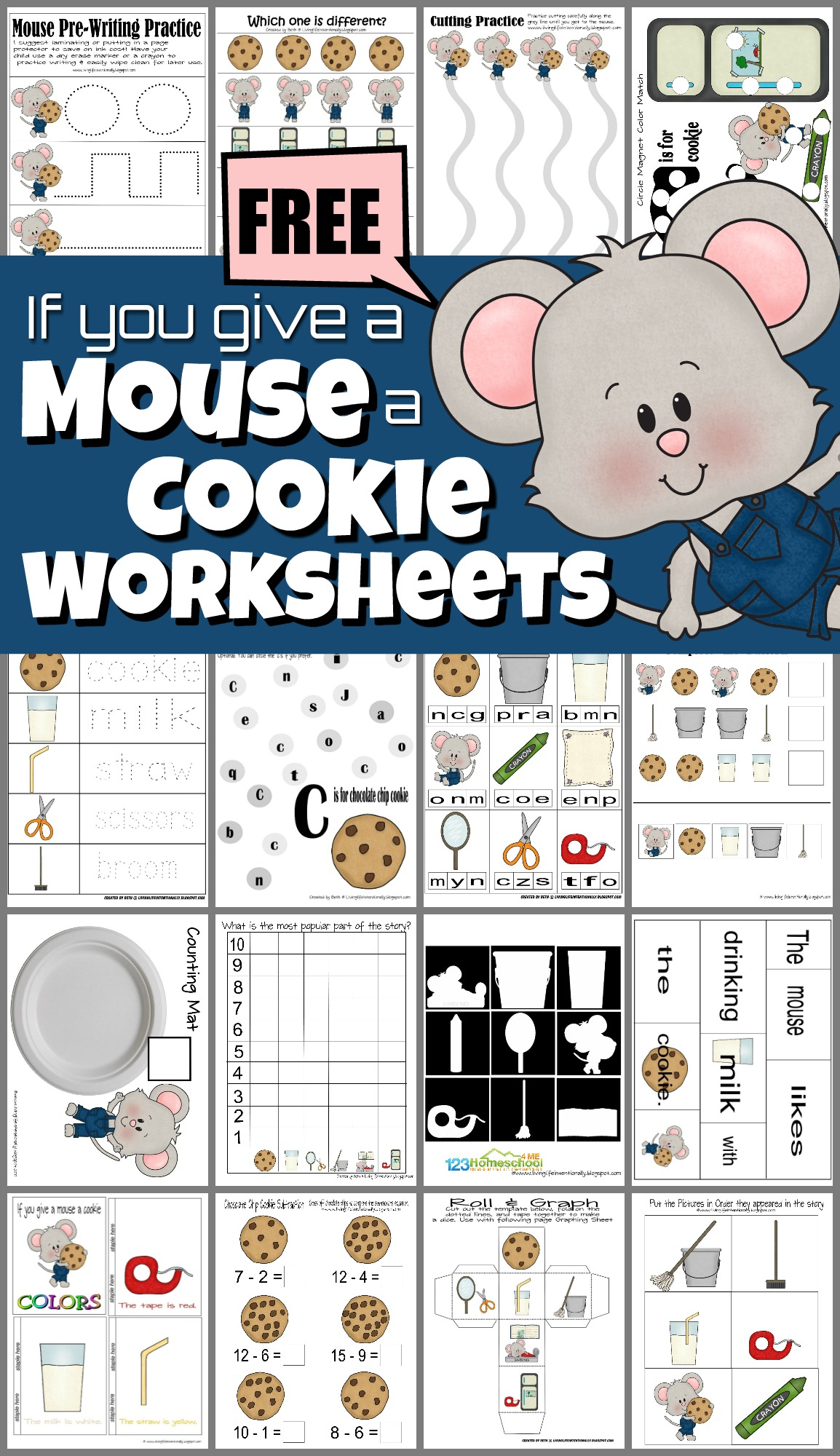 If You Give A Mouse A Cookie Worksheets