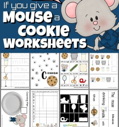 If you Give a Mouse a Cookie Worksheets [ 1775 x 1024 Pixel ]