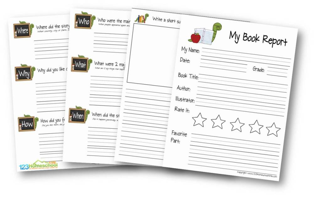 medium resolution of FREE Book Report for Kids