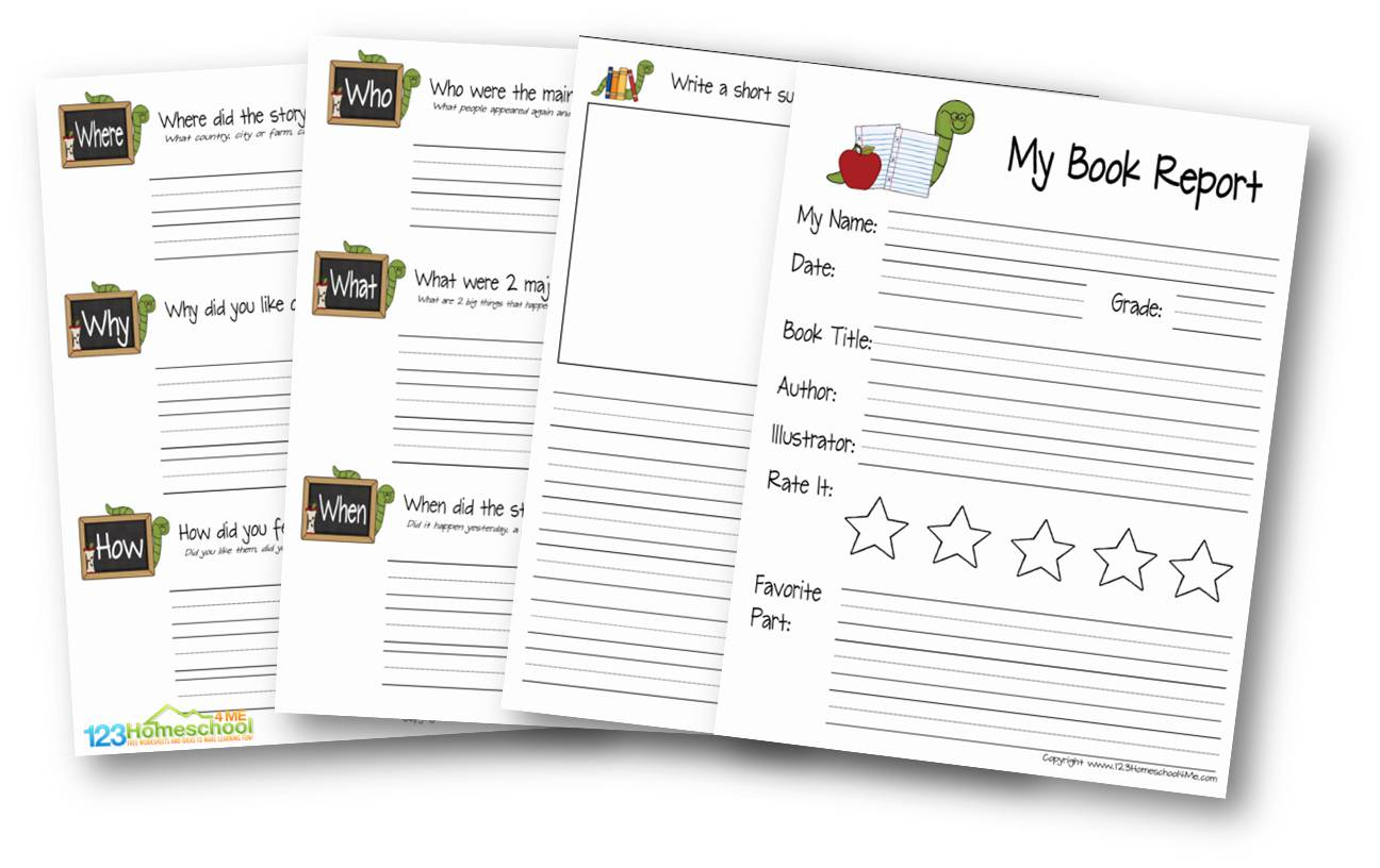 hight resolution of FREE Book Report for Kids