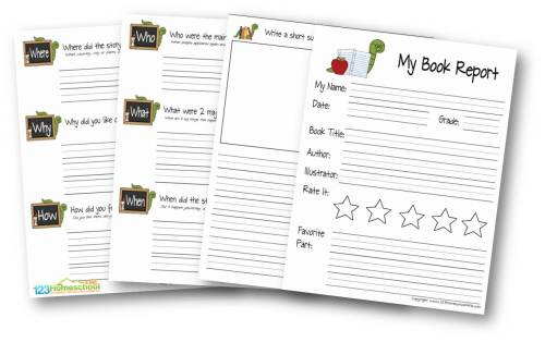 small resolution of FREE Book Report for Kids