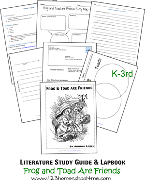 Literature Study Guide & Lapbook: Frog and Toad Are