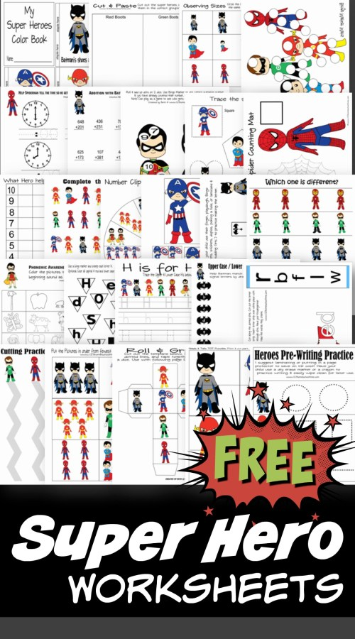 small resolution of FREE Superhero Worksheets