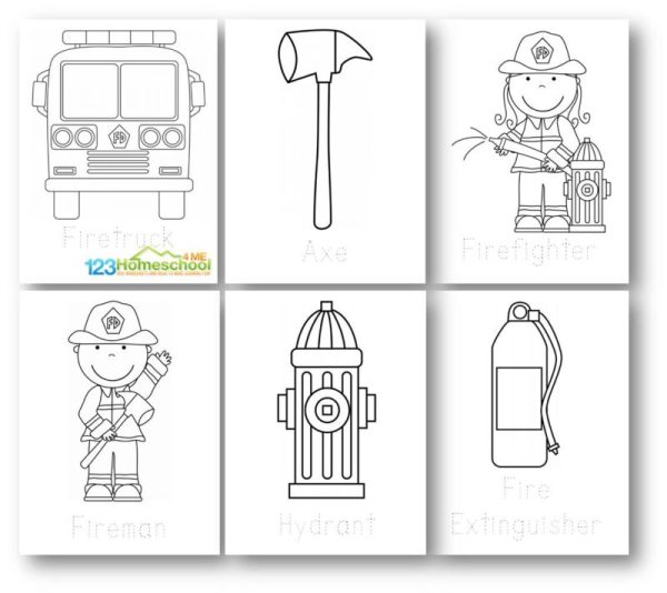 fireman coloring page # 40