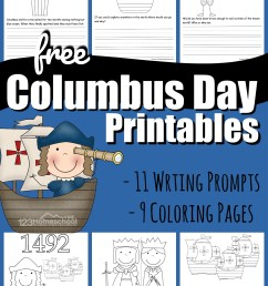 FREE Columbus Day Printables [ 1492 x 1024 Pixel ]