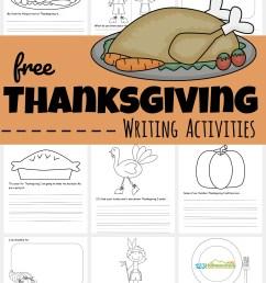 FREE Printable Thanksgiving Writing Activities [ 1460 x 1024 Pixel ]