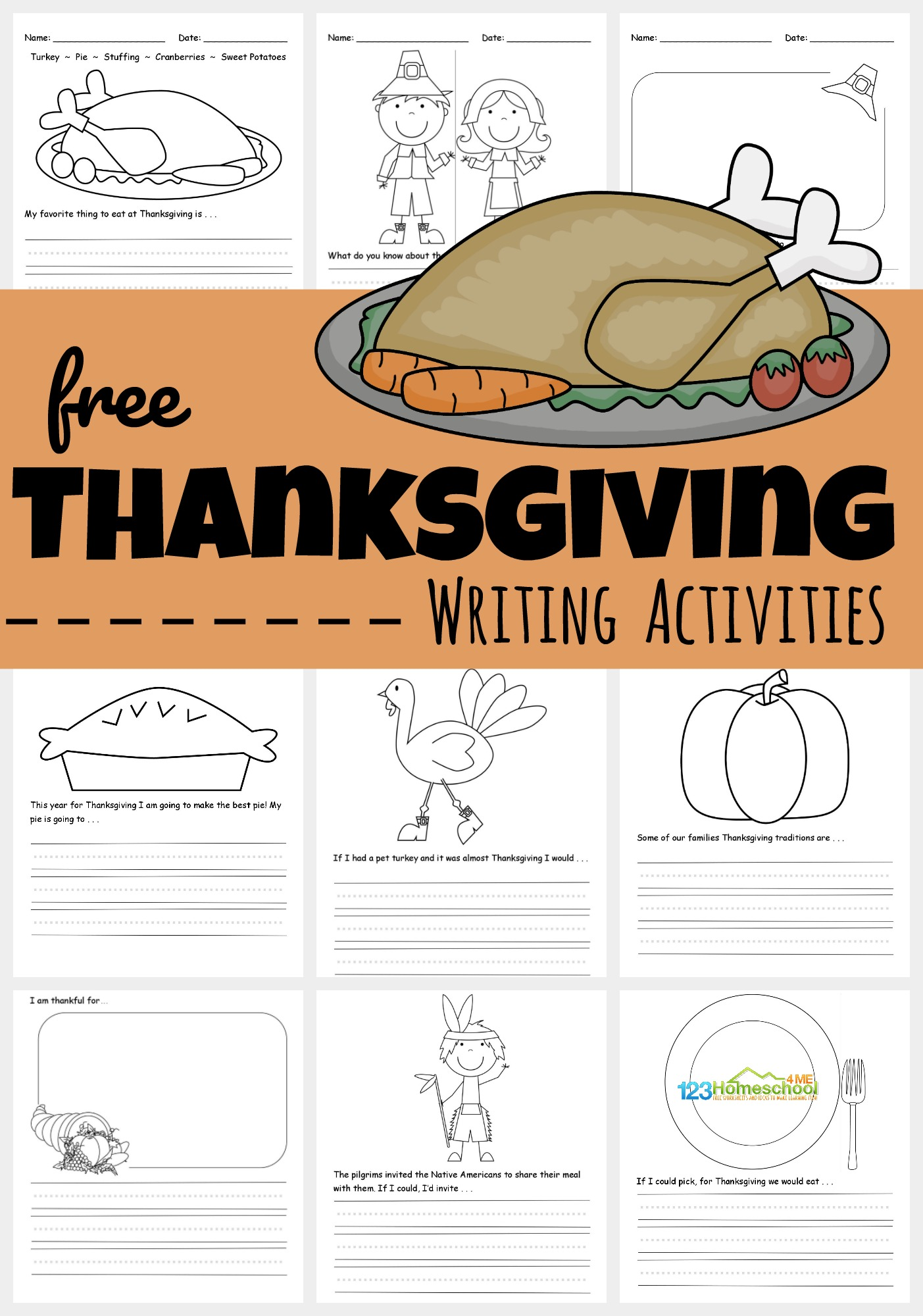 hight resolution of FREE Printable Thanksgiving Writing Activities