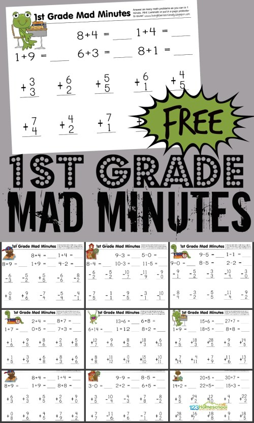 small resolution of FREE First Grade Math Worksheets