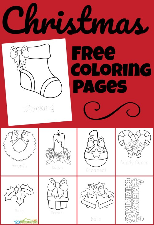 small resolution of 🎄 FREE Christmas Coloring Pages