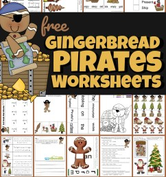 FREE Gingerbread Pirates Christmas Worksheets [ 1631 x 1024 Pixel ]