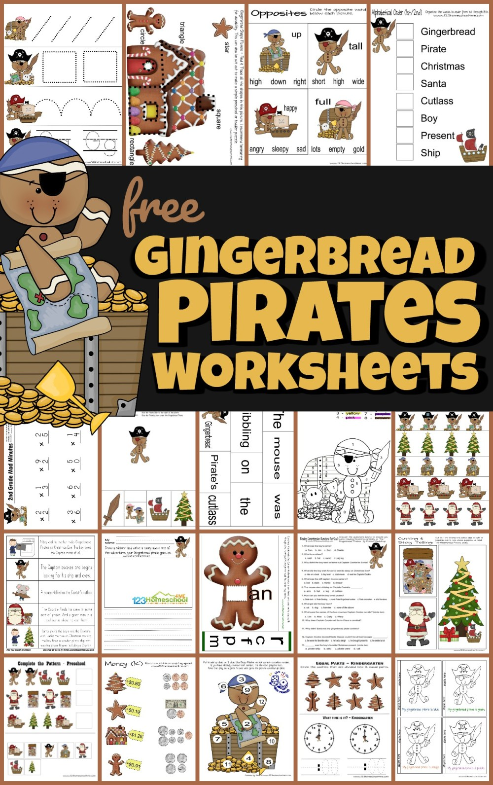 medium resolution of FREE Gingerbread Pirates Christmas Worksheets