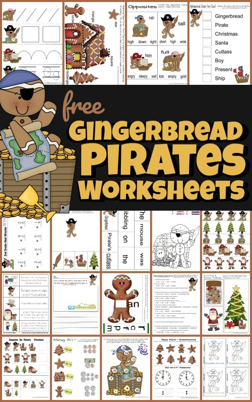 small resolution of FREE Gingerbread Pirates Christmas Worksheets