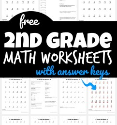 FREE 2nd Grade Math Worksheets [ 1590 x 1024 Pixel ]