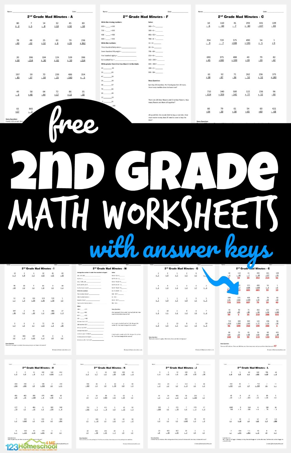medium resolution of FREE 2nd Grade Math Worksheets