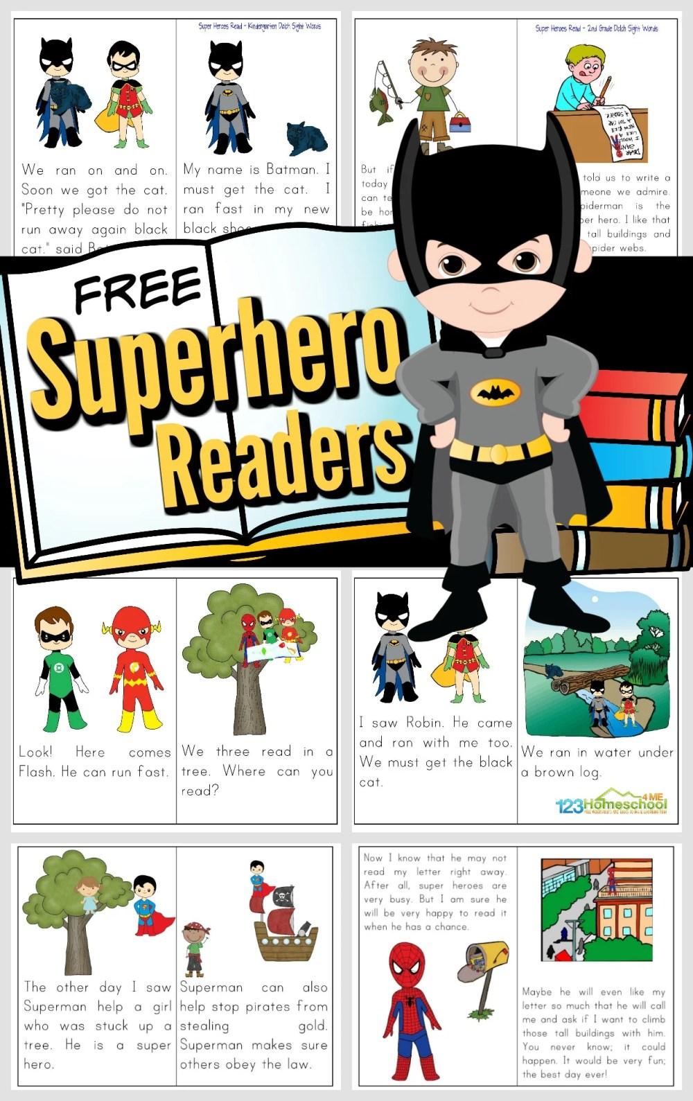 medium resolution of Free Printable Superhero Books