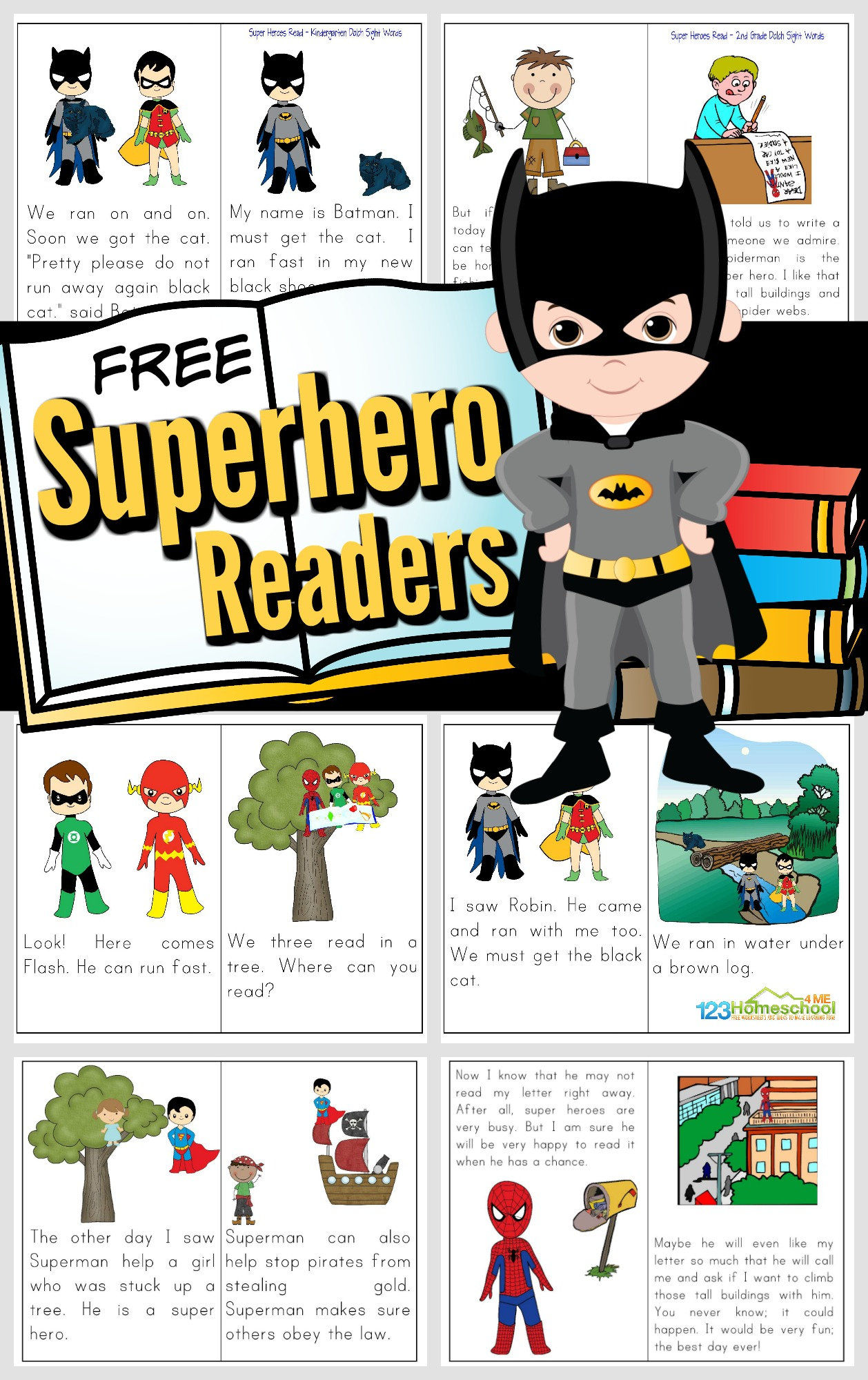 hight resolution of Free Printable Superhero Books