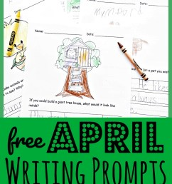 FREE Printable April Writing Prompts for Spring [ 2000 x 955 Pixel ]
