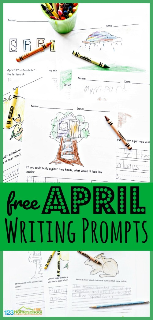 small resolution of FREE Printable April Writing Prompts for Spring