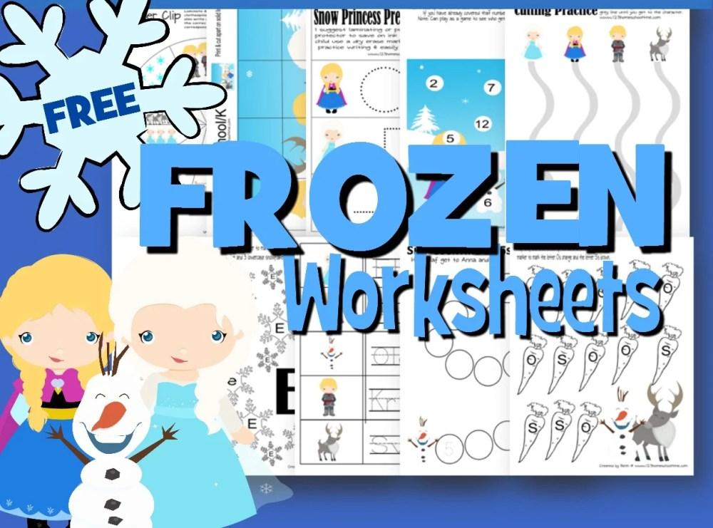 medium resolution of FREE Frozen Worksheets for Kids